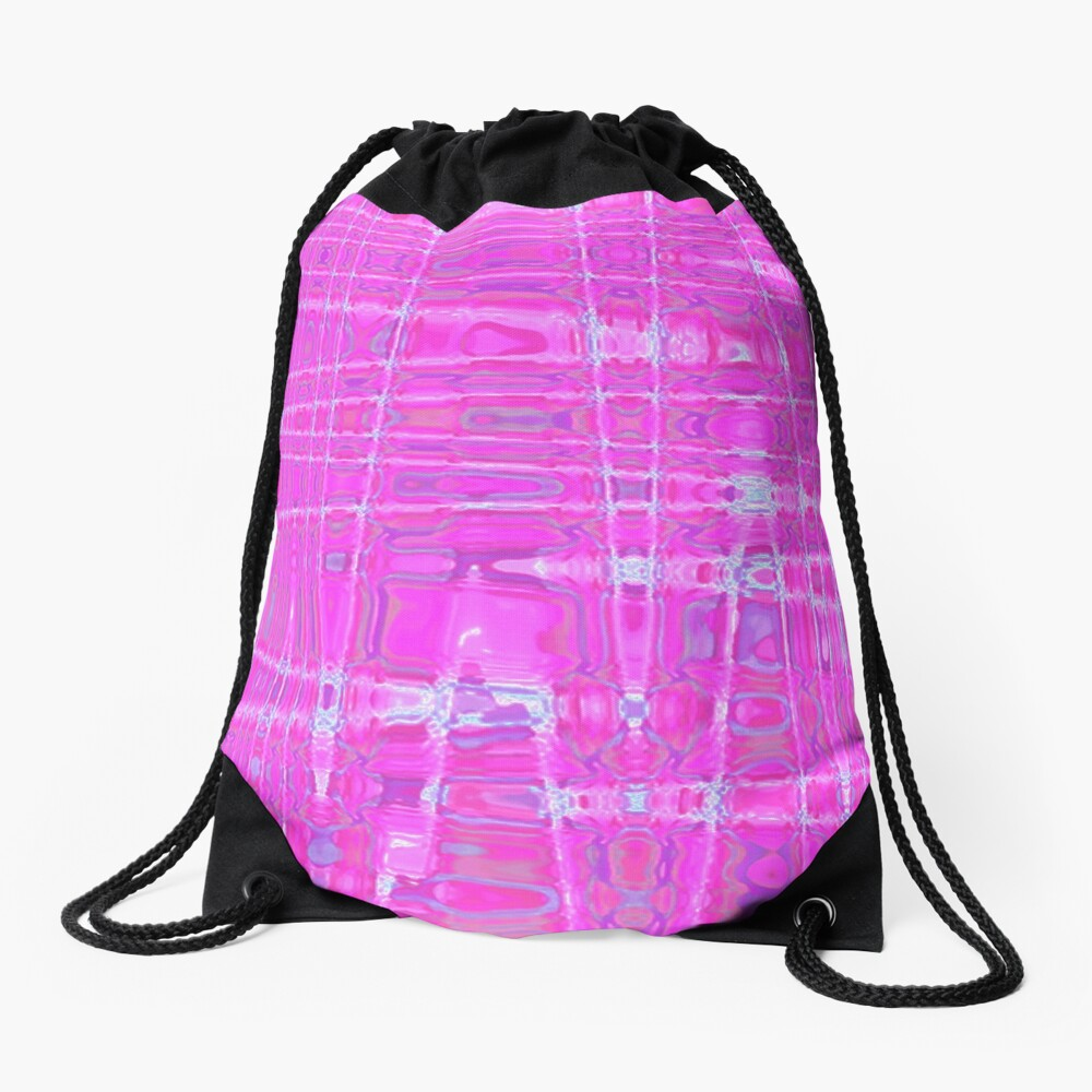 QUANTUM FIELDS ABSTRACT [1] PINK [1] Drawstring Bag