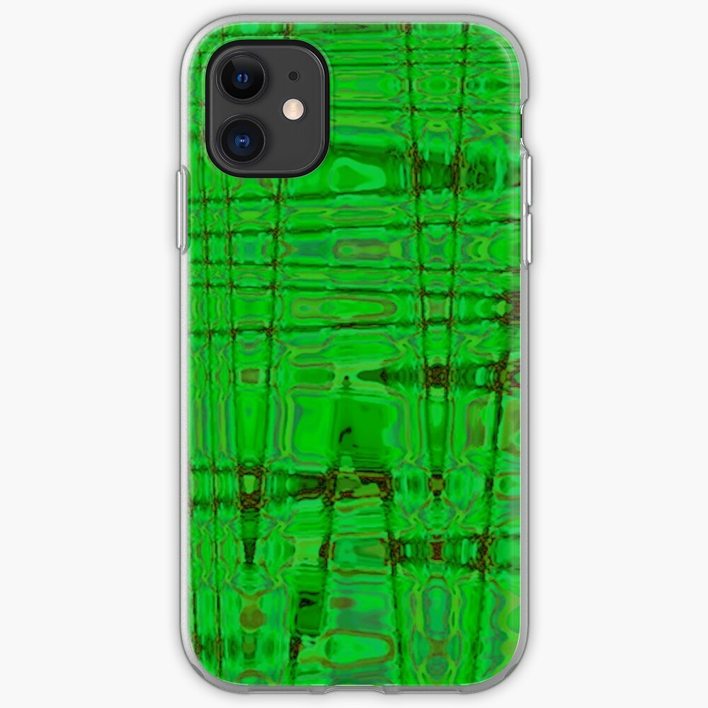 QUANTUM FIELDS ABSTRACT [1] GREEN [1] iPhone Soft Case