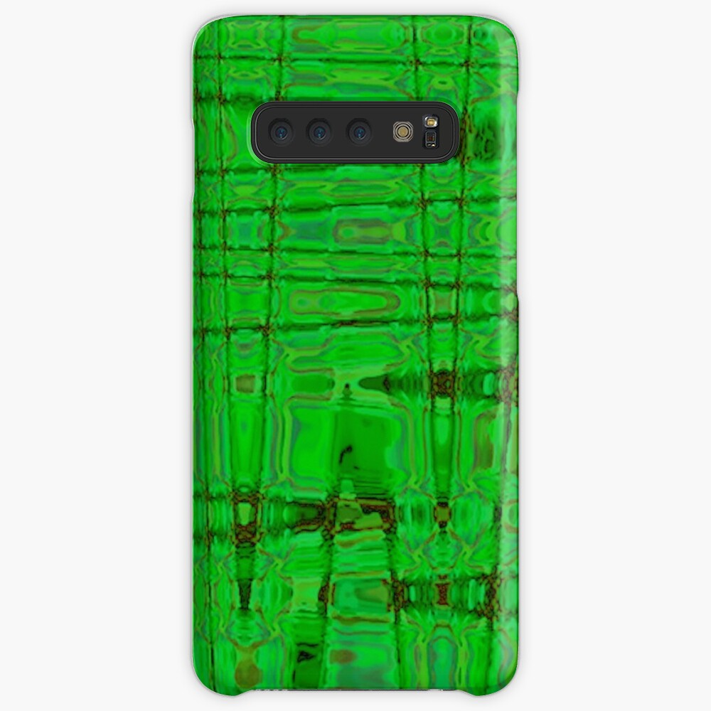 QUANTUM FIELDS ABSTRACT [1] GREEN [1] Samsung Galaxy Snap Case
