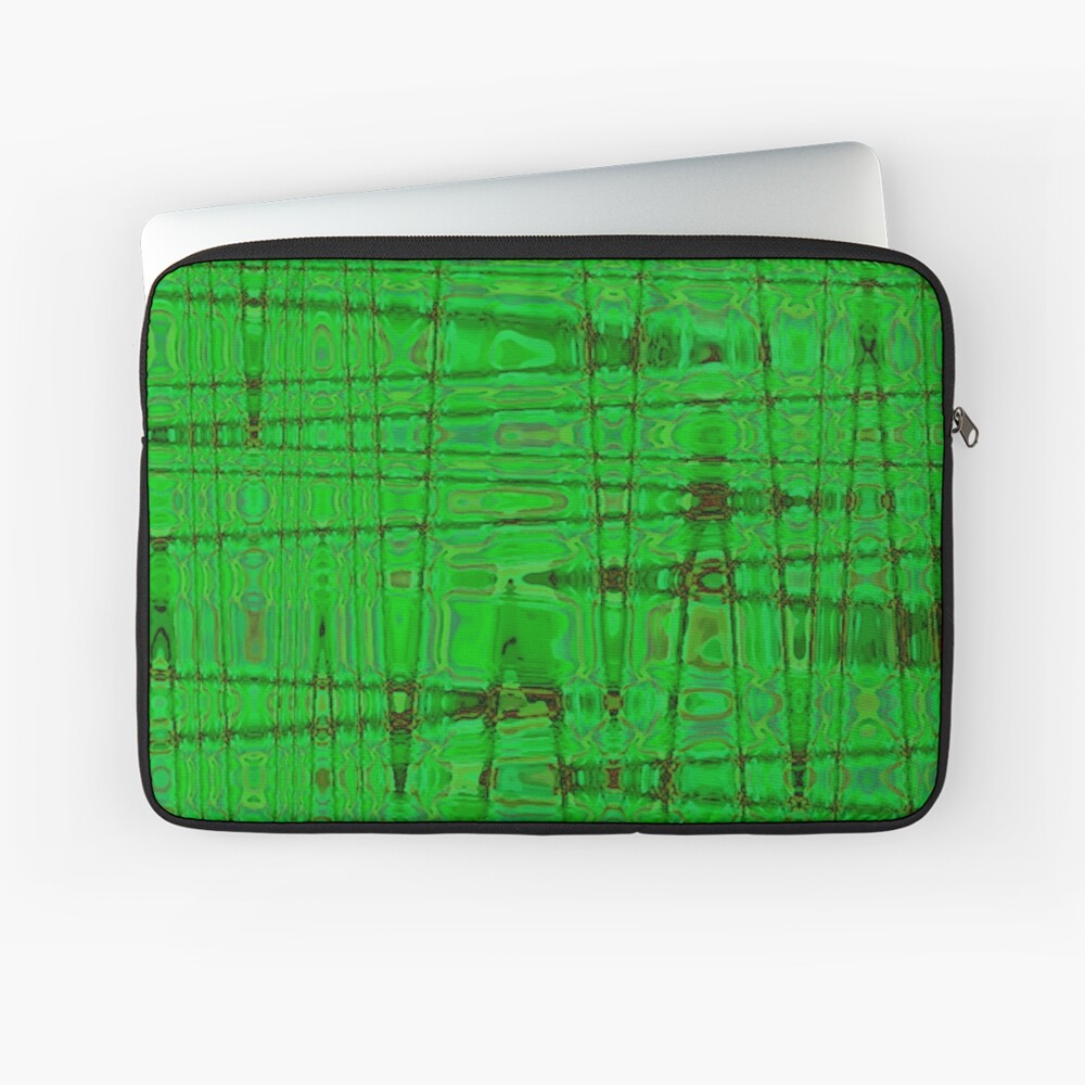 QUANTUM FIELDS ABSTRACT [1] GREEN [1] Laptop Sleeve