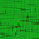 QUANTUM FIELDS ABSTRACT [1] GREEN [1] by jamie garrard