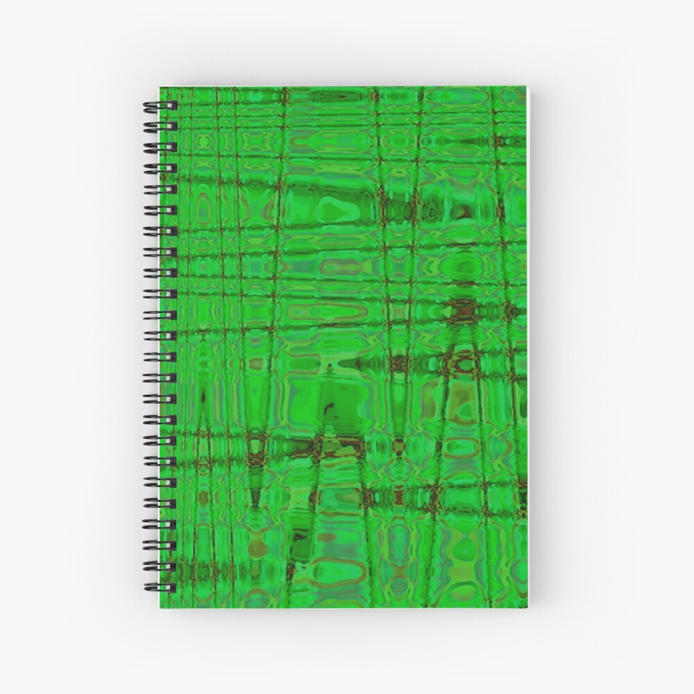 QUANTUM FIELDS ABSTRACT [1] GREEN [1] Spiral Notebook