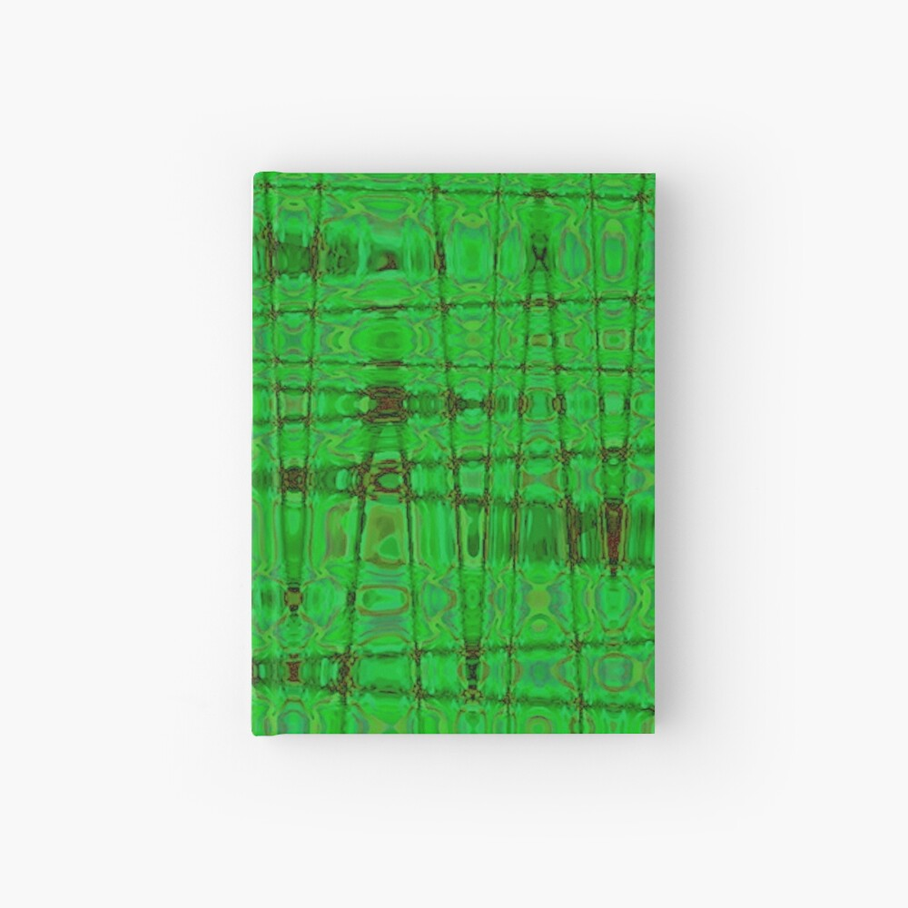 QUANTUM FIELDS ABSTRACT [1] GREEN [1] Hardcover Journal