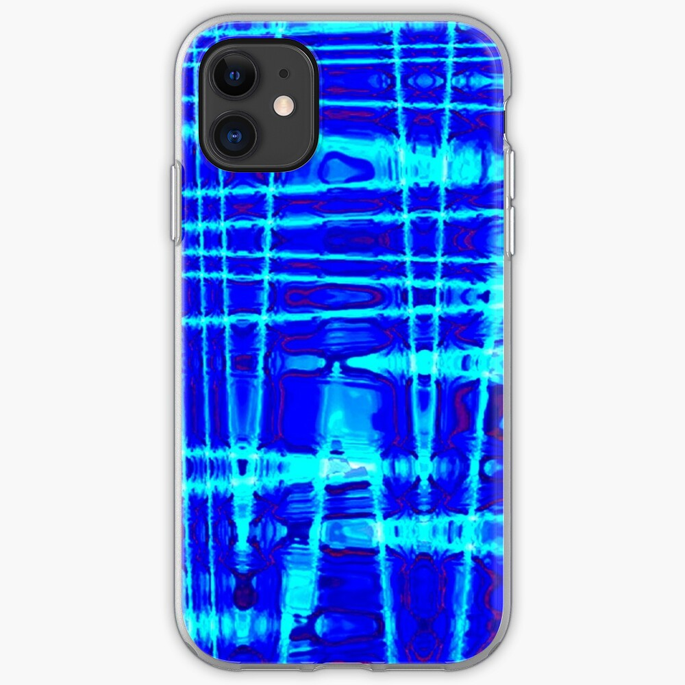 QUANTUM FIELDS ABSTRACT [1] BLUE [2] iPhone Soft Case