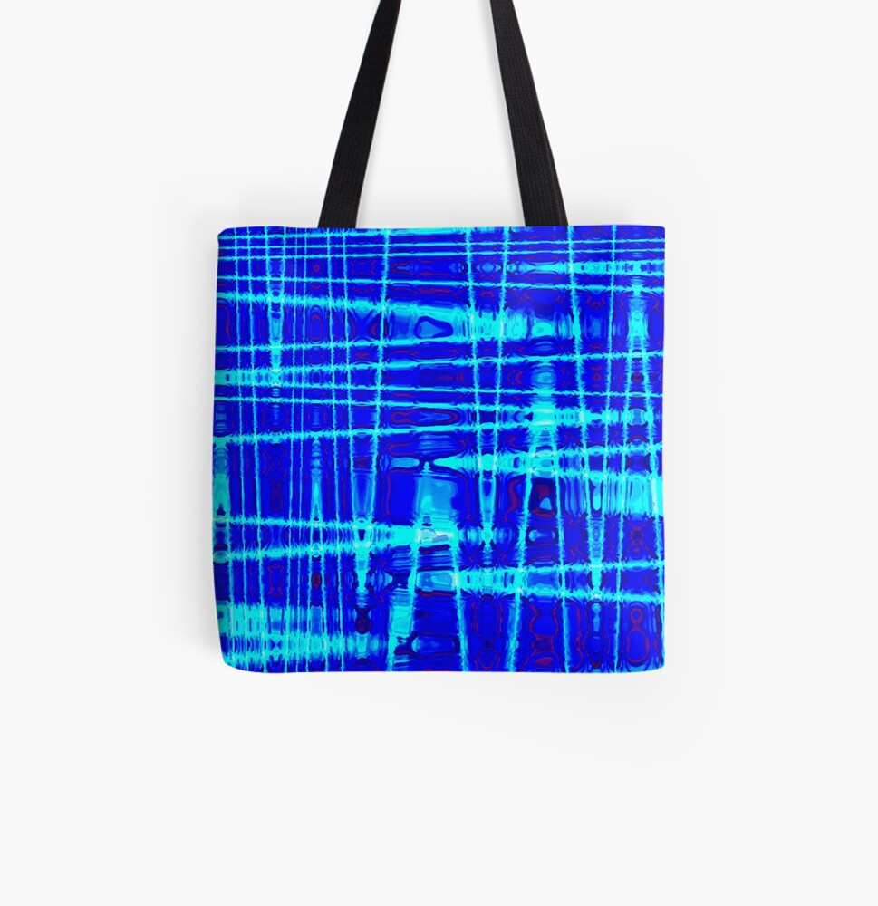 QUANTUM FIELDS ABSTRACT [1] BLUE [2] All Over Print Tote Bag