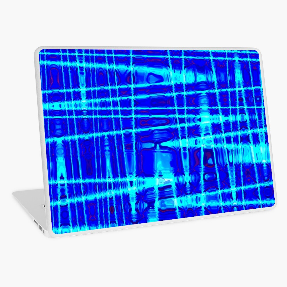 QUANTUM FIELDS ABSTRACT [1] BLUE [2] Laptop Skin