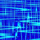 QUANTUM FIELDS ABSTRACT [1] BLUE [2] by jamie garrard