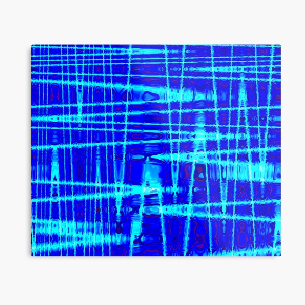 QUANTUM FIELDS ABSTRACT [1] BLUE [2] Metal Print