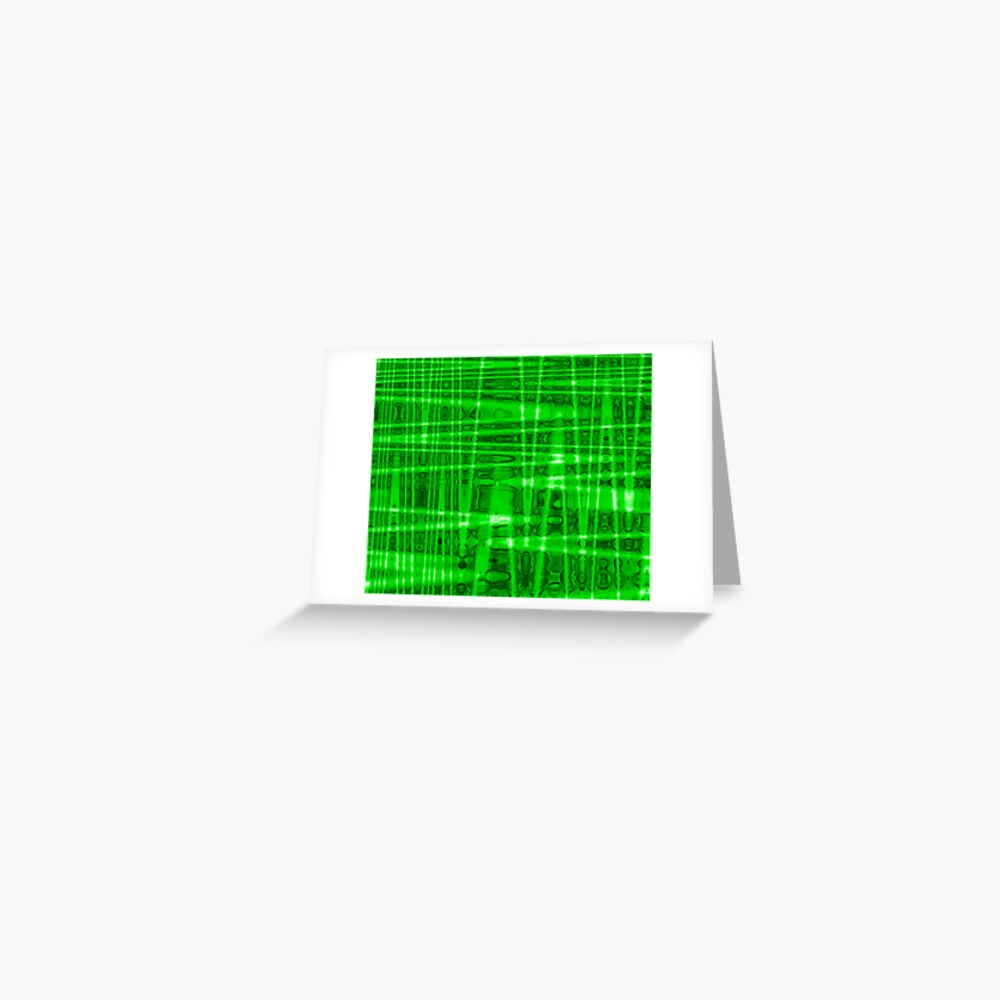 QUANTUM FIELDS ABSTRACT [1] GREEN [2] Greeting Card