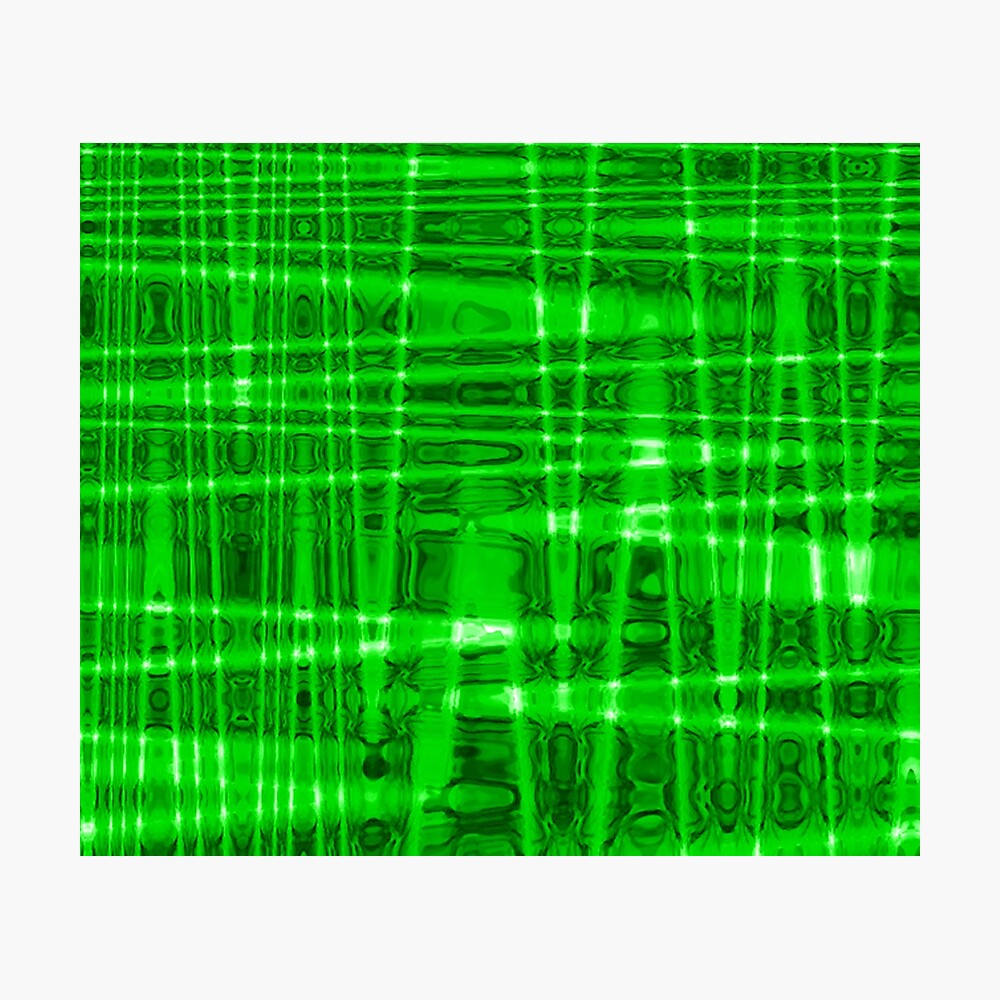 QUANTUM FIELDS ABSTRACT [1] GREEN [2] Photographic Print