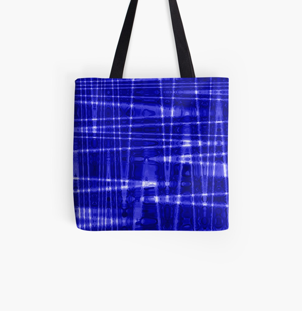 QUANTUM FIELDS ABSTRACT [1] BLUE [1] All Over Print Tote Bag