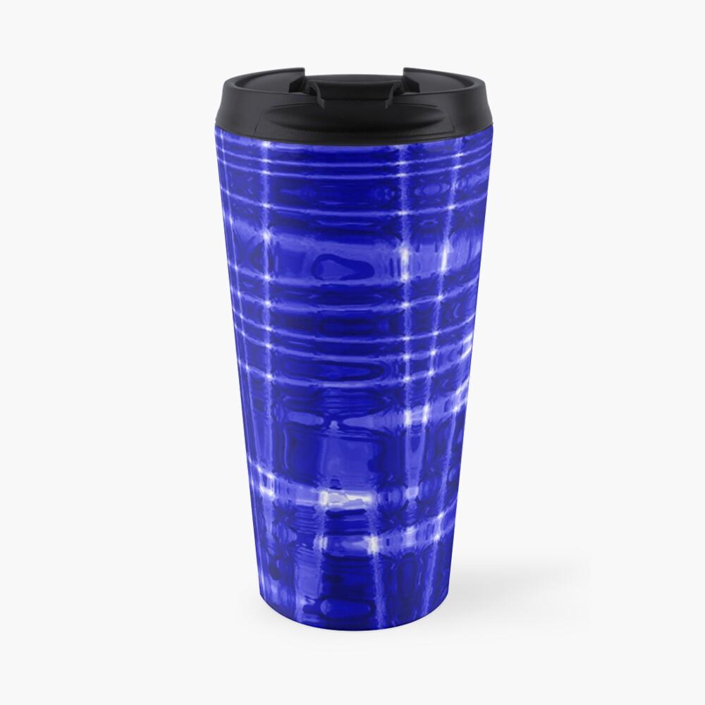 QUANTUM FIELDS ABSTRACT [1] BLUE [1] Travel Mug