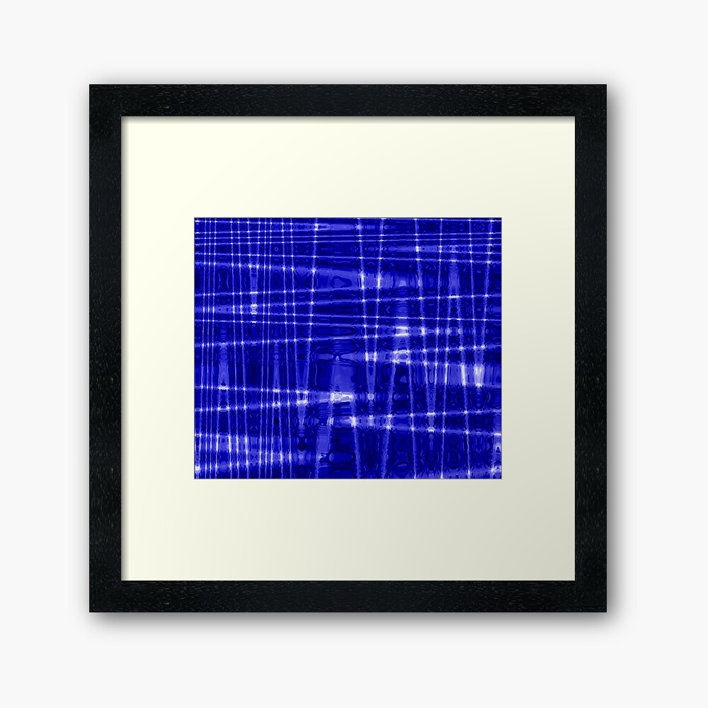 QUANTUM FIELDS ABSTRACT [1] BLUE [1] Framed Art Print