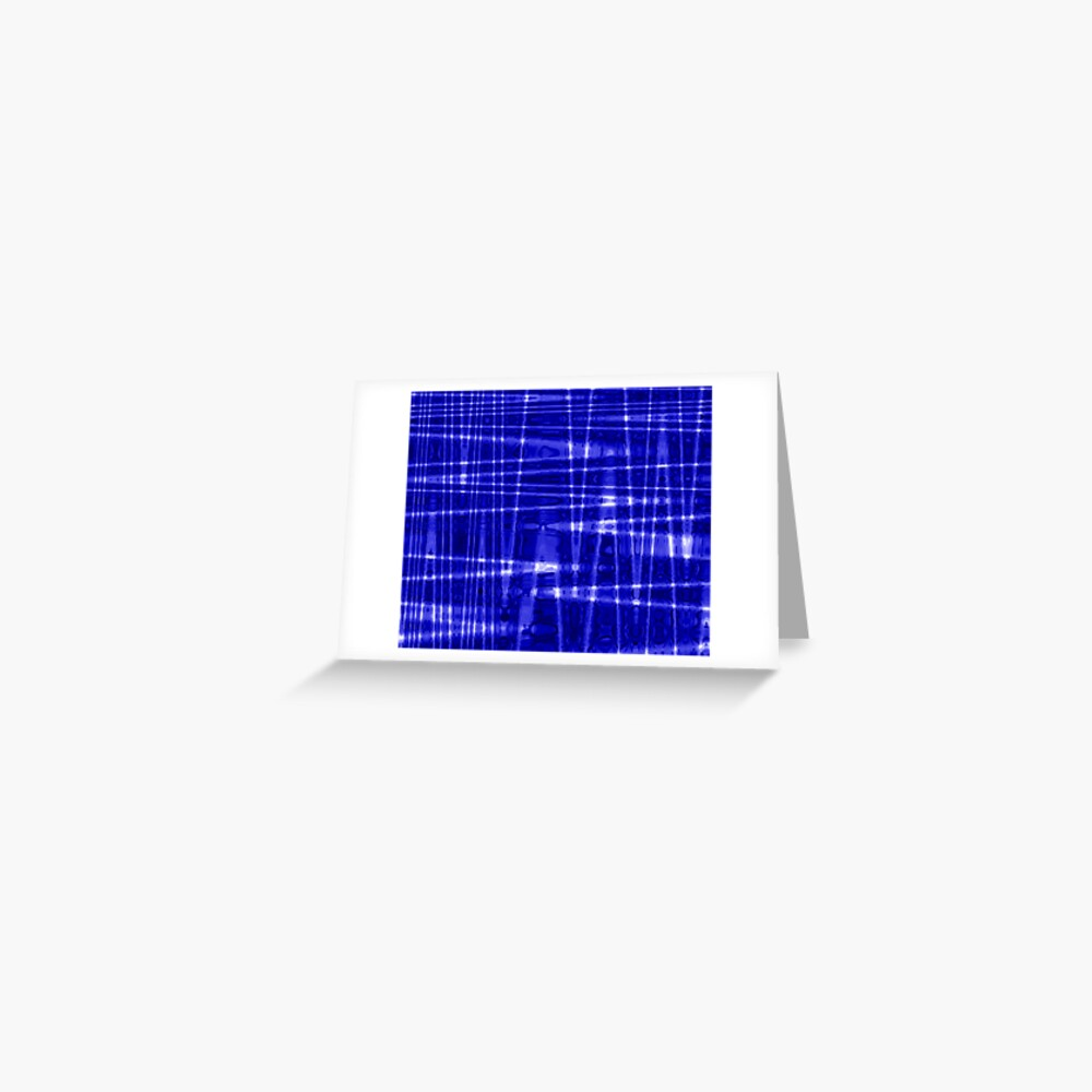 QUANTUM FIELDS ABSTRACT [1] BLUE [1] Greeting Card