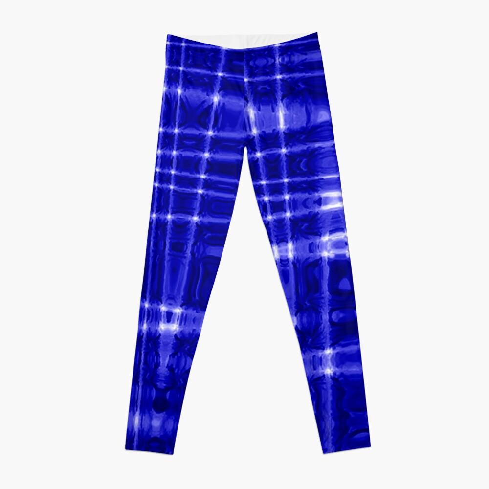 QUANTUM FIELDS ABSTRACT [1] BLUE [1] Leggings