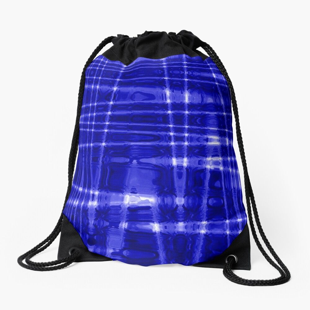 QUANTUM FIELDS ABSTRACT [1] BLUE [1] Drawstring Bag