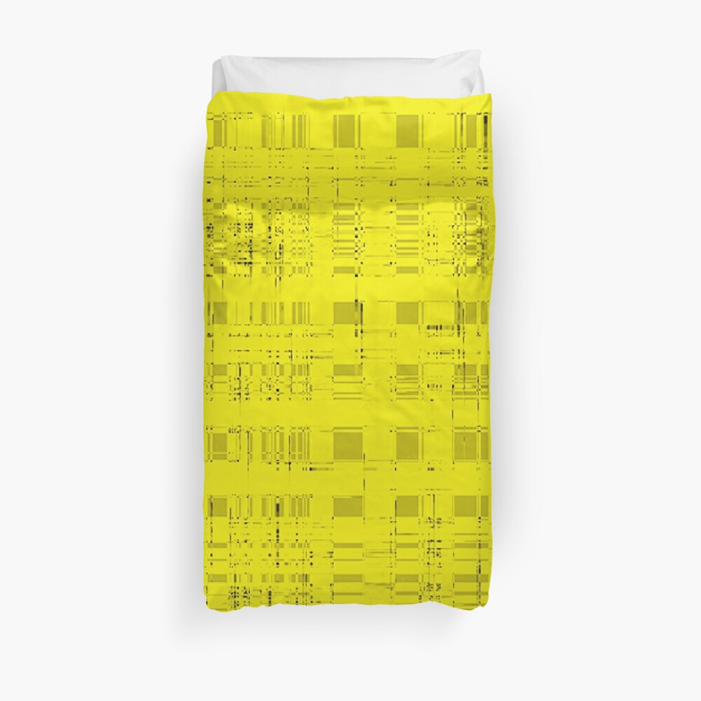 QUANTUM FIELDS ABSTRACT [2] YELLOW [1] Duvet Cover