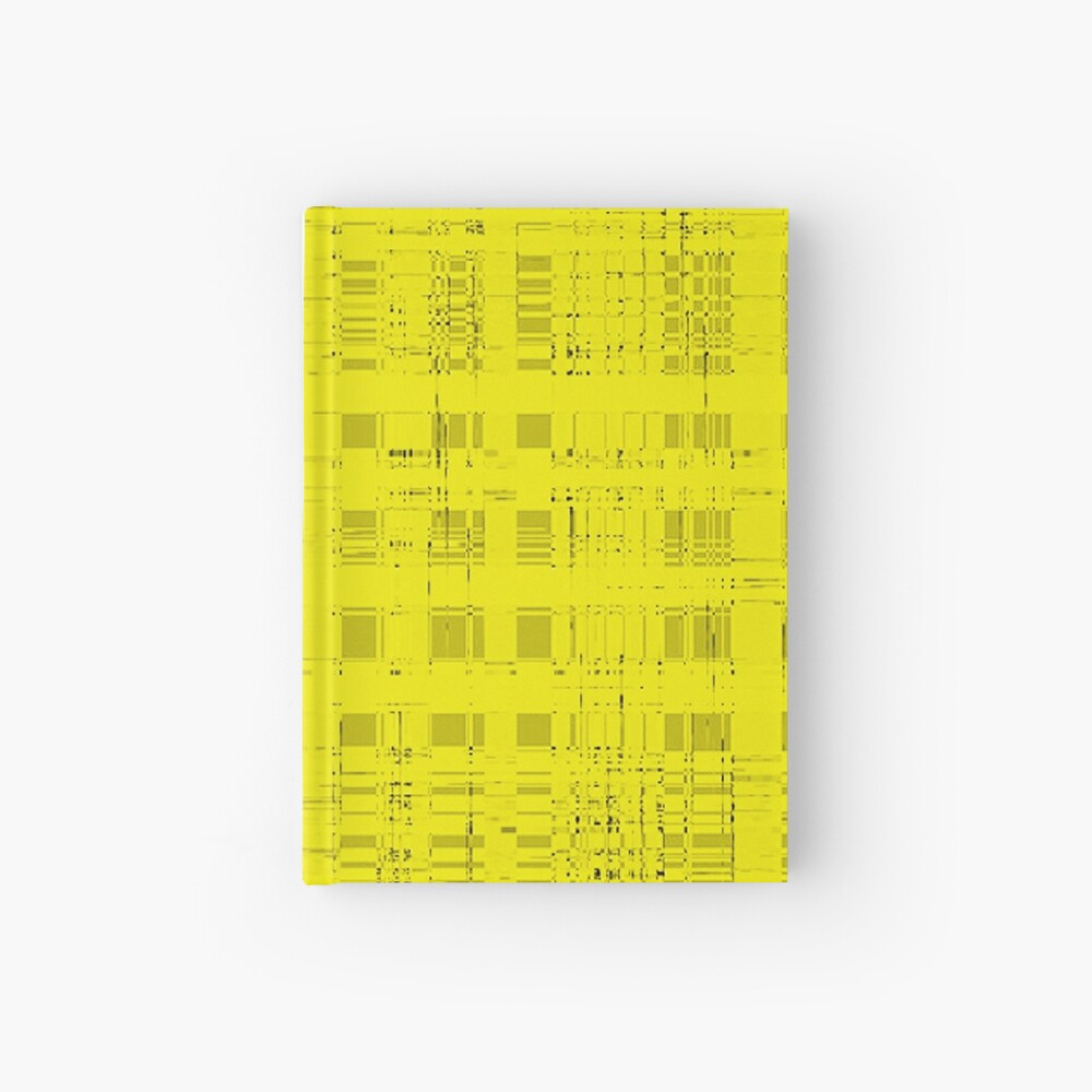 QUANTUM FIELDS ABSTRACT [2] YELLOW [1] Hardcover Journal