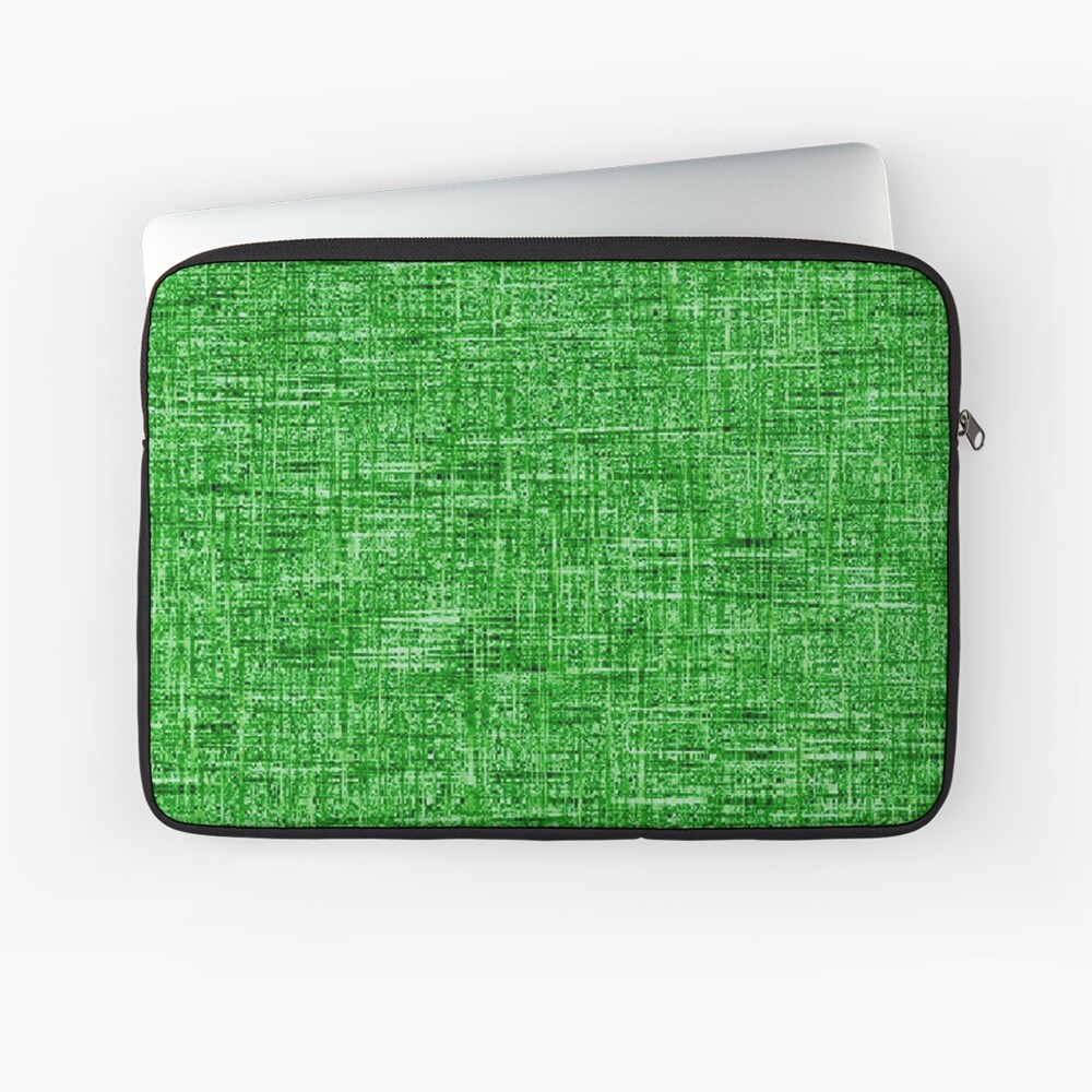 QUANTUM FIELDS ABSTRACT [4] GREEN [1] Laptop Sleeve