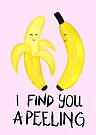 Bananas - I Find You Apeeling - Pink by makemerriness
