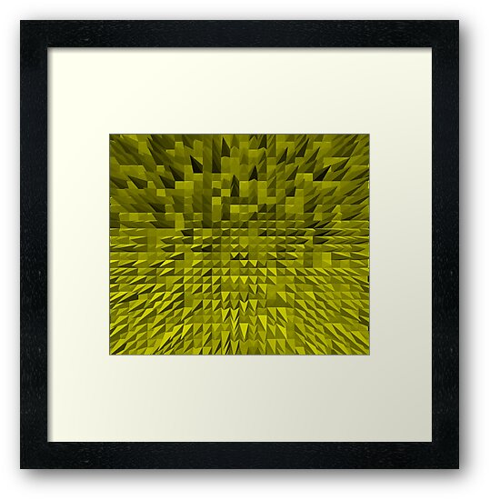 VISION OF THOUGHT ABSTRACT [1] YELLOW [1] by jamie garrard