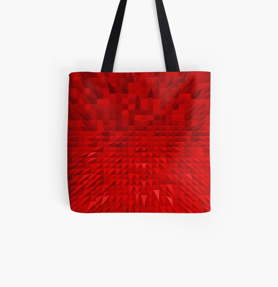 VISION OF THOUGHT ABSTRACT [1] RED [1] All Over Print Tote Bag