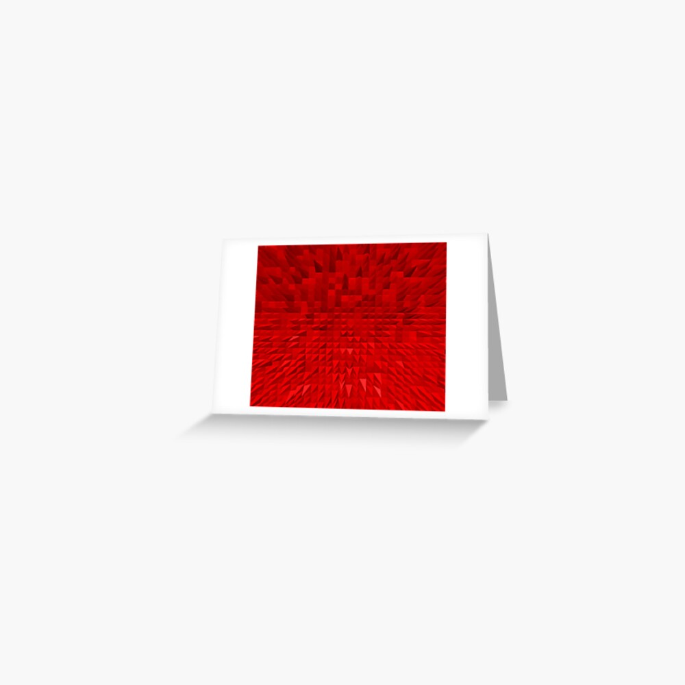 VISION OF THOUGHT ABSTRACT [1] RED [1] Greeting Card