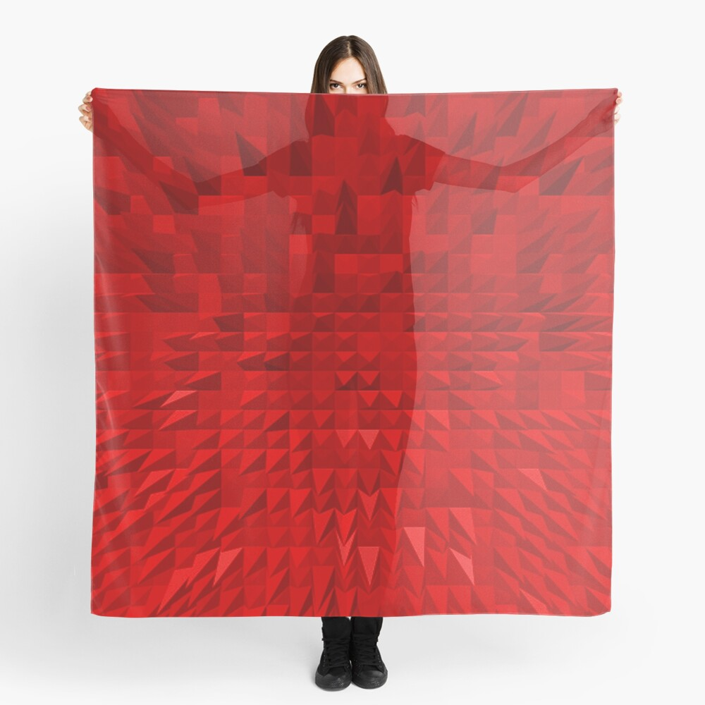 VISION OF THOUGHT ABSTRACT [1] RED [1] Scarf