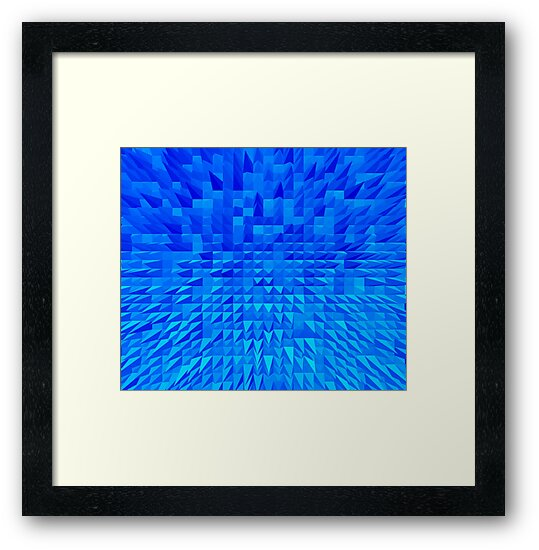 VISION OF THOUGHT ABSTRACT [1] INDIGO [1] by jamie garrard