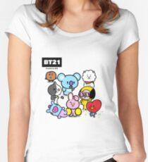 BTS - BT21 - ALL Women's Fitted Scoop T-Shirt