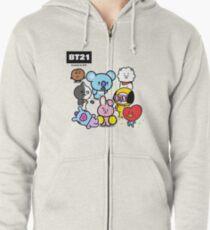 BTS - BT21 - ALL Zipped Hoodie