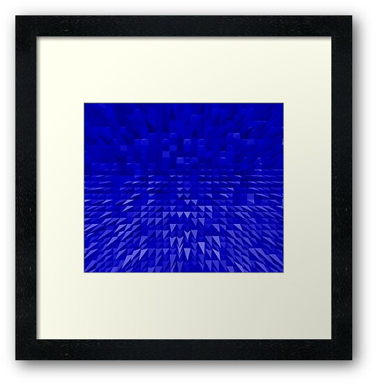 VISION OF THOUGHT ABSTRACT [1] BLUE [1] by jamie garrard