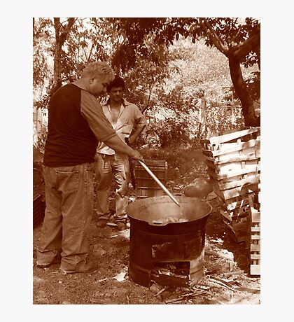 "Frying ""Chicharon"" Photographic Print"
