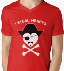 Funny I steal hearts Tshirt - Valentines Day Gift Shirt for him/her Men's V-Neck T-Shirt