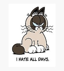 I Hate All Days T-Shirt Photographic Print