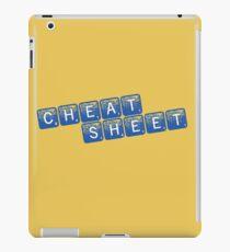 Cheat Sheet iPad Case/Skin