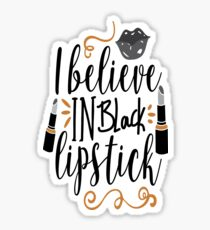 Black lipstick love  Sticker