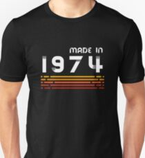 Made In 1974 - Retro 44th Birthday Gift Unisex T-Shirt
