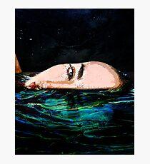 Swimming in the dark Photographic Print