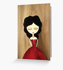red princess Greeting Card