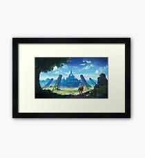 Lámina enmarcada La leyenda de Zelda: aliento de lo salvaje