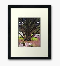Avenue of Trees with a Pink Ground 1 Framed Print