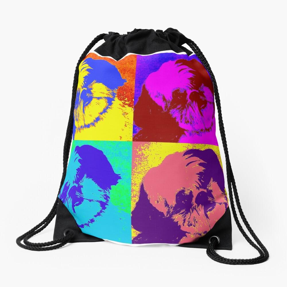 Shih Tzu Pop Art  Drawstring Bag
