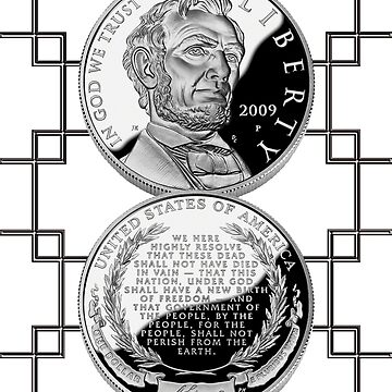 Coin2_Abraham Lincoln Commemorative Silver Dollar by Miraart