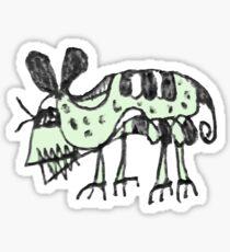 Monster Rat Pencil Drawing Illustration Sticker