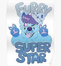 FURRY SUPERSTAR - color Poster