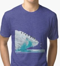 Artic penguins Tri-blend T-Shirt