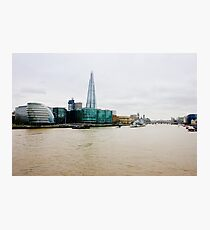 The Shard and Thames Photographic Print