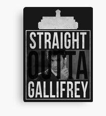Straight Outta Gallifrey - 10th Doctor V. Canvas Print