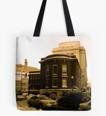 """The Masonic Temple (known locally as the """"Mason Building"""") Tote Bag"""